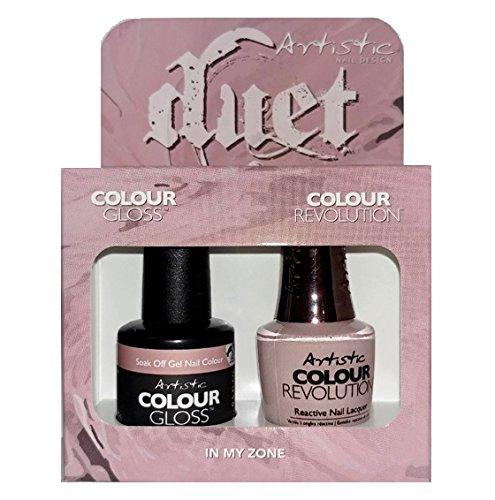 小さな二週間混雑Artistic Nail Design - Duet Gel & Polish Duo - In My Zone - 15 mL / 0.5 oz each