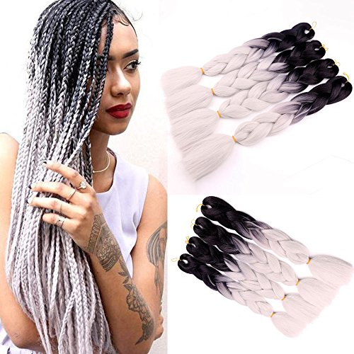 - 3Pcs/Lot Ombre Kanekalon Braiding Hair Extensions 24