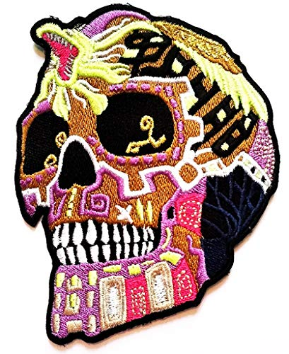 PP Patch Colorful Purple Skull King Cobra Cartoon Zombie Skull Ghost Halloween Art Sew Iron on Embroidered Decoration for Backpacks Bags T-Shirt Clothes Jackets Jeans Hat ()