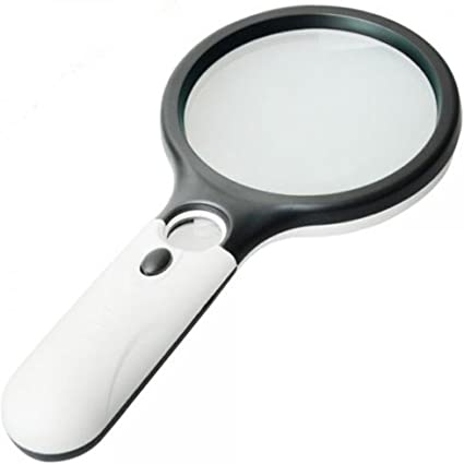 3-LED Light 45X Handheld Magnifier Reading Magnifying Glass Jewelry Loupe  UY