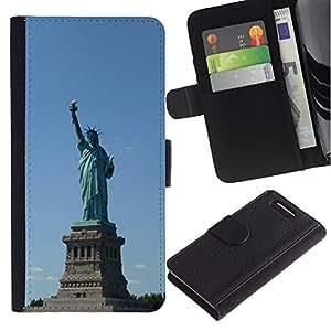 iBinBang / Flip Funda de Cuero Case Cover - Arquitectura Estatua de la Libertad - Sony Xperia Z1 Compact D5503