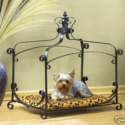 Luxury Royal Princess Iron scroll Canopy Dog Cat Pet Bed Furniture small 25 x 18 by Gifts & Decor