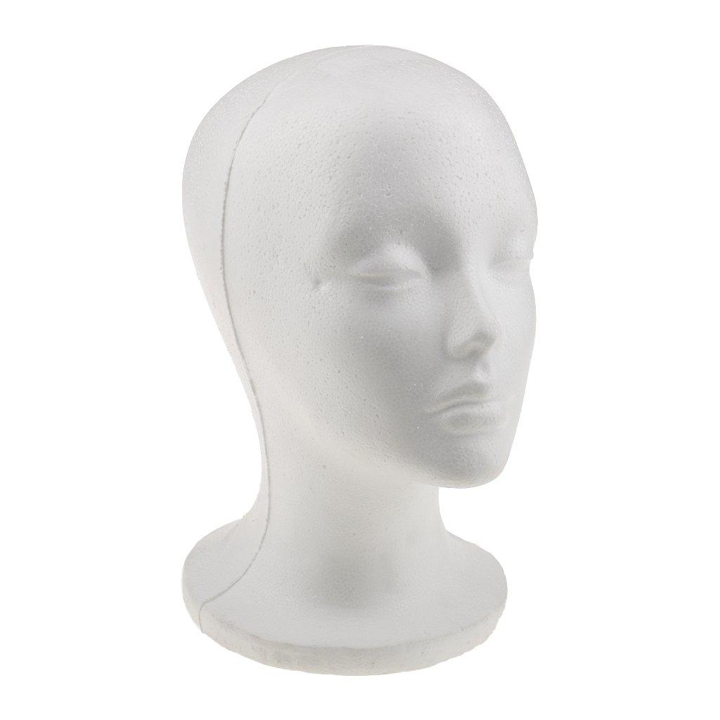 Sharplace Femme Tête Modèle Mannequin de Vitrine Présentoir en Polystyrène Mousse Pour Chapeau Perruque Lunettes affichage