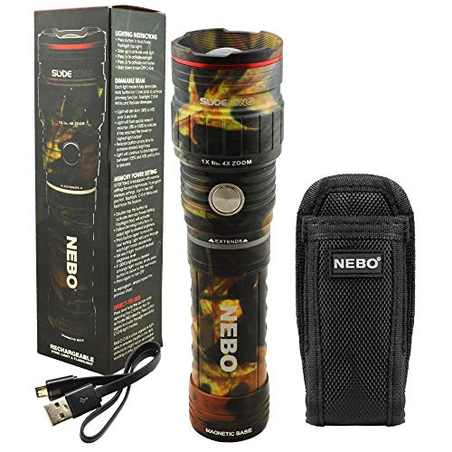 NEBO SLYDE KING 500 Lumen Rechargeable LED Flashlight Bundle with SLYDE Holster (Camo)