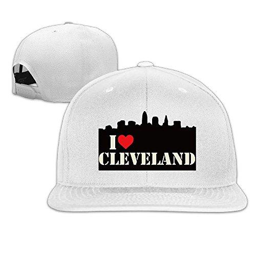 i-love-cleveland-skyline-adjustable-baseball-cap-snapback-white