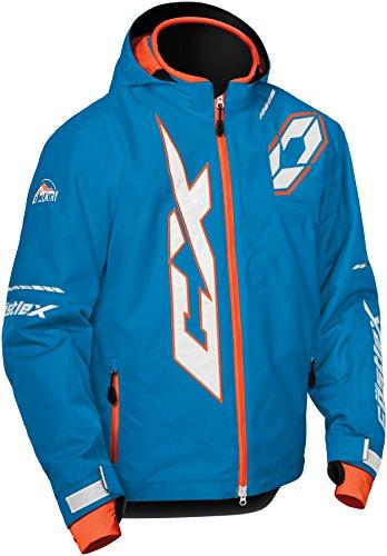 Castle X Stance Youth Snowmobile Jacket - Process Blue/Orange (XSM)