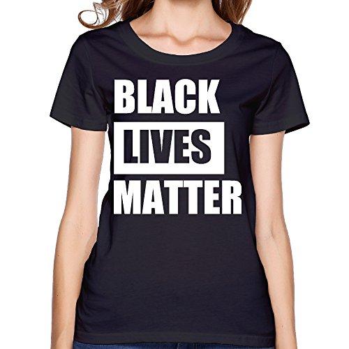 Fashion Women's BLACK LIVES MATTER Tshirt Black Size XL