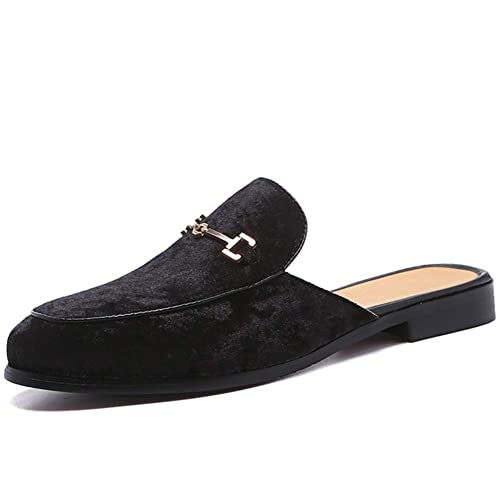Mule Slippers Backless Loafers Suede