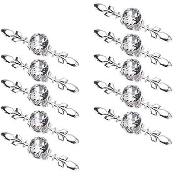 Sumnacon Drawer Dresser Knobs Pull Handles Crystal Glass