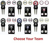 NHL Divot Tool Pack With 3 Golf Ball Markers