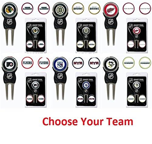 497e034e68b Team Golf NHL Divot Tool with 3 Golf Ball Markers Pack