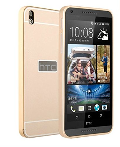 competitive price e369e b4c22 OnlineeMarket Luxury Aluminum Frame+Acrylic Back Cover Case Bumper For HTC  DESIRE 816 - GOLD