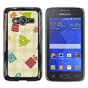 Paccase / SLIM PC / Aliminium Casa Carcasa Funda Case Cover para - Gift Paper Plaid Winter Merry - Samsung Galaxy Ace 4 G313 SM-G313F