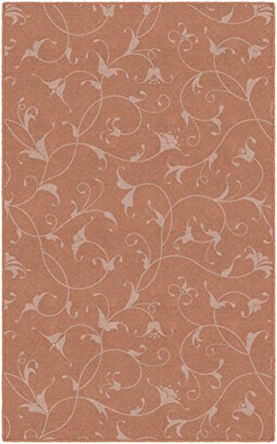 Brumlow Mills EW10248-5x8 Caitlin in Salmon Simple Floral Area Rug, 5' x -