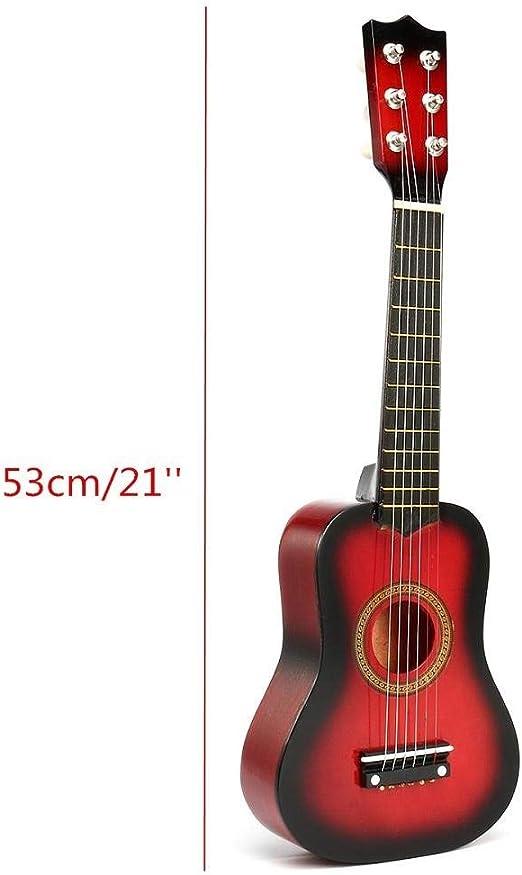 Ukulele Portátiles de 21 Pulgadas 6 Cuerdas Guitarra acústica de ...