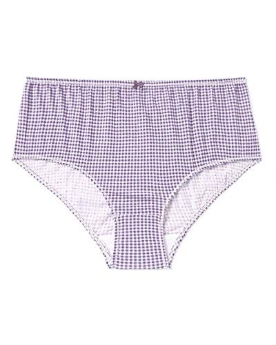 b401dea6588be Penningtons Womens Plus Size Ti Voglio Printed Cotton Brief Panty Plum  Perfect 1X - Buy Online in Oman.