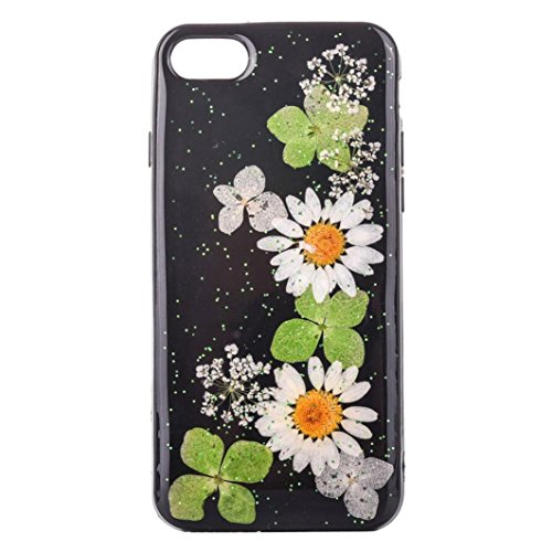 Anshinto Fashion Floral Pattern Case Cover Skin For iPhone 7 4.7 inch (J)