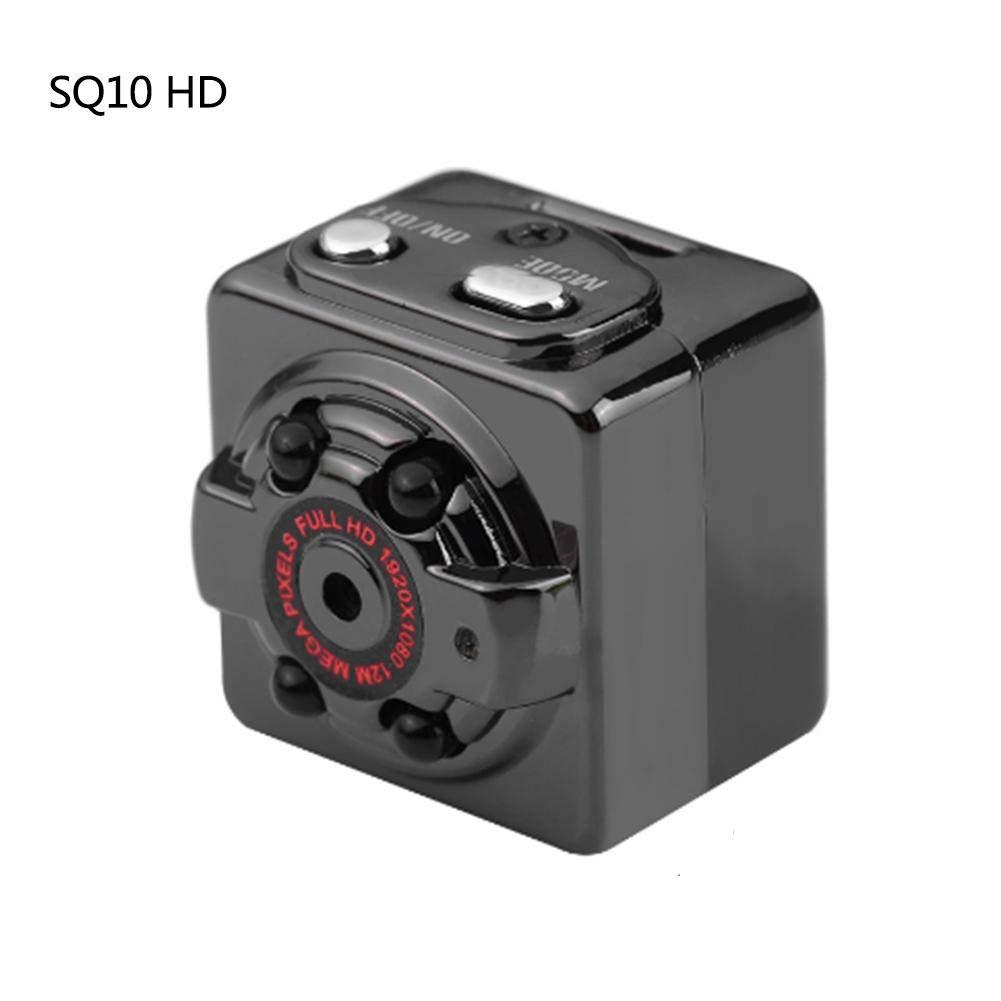 createjia Caméra Cachée 1080P Mini Caméra SQ11 Spy Caméra Web Portable Sport DV Caméra avec Vision Nocturne et Détection de Mouvement pour Caméra de Surveillance de Sécurité par
