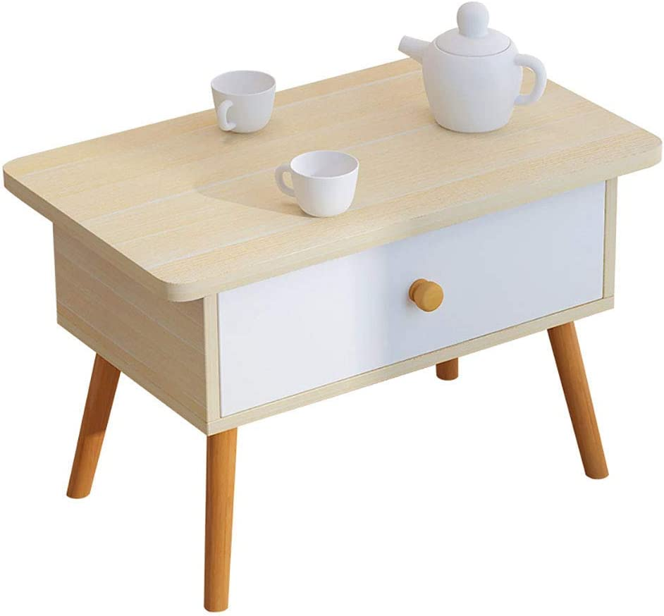 YLCJ Bedside Side Tables with Drawer for Small Space Occasional Furniture Multipurpose for Balcony Bedroom