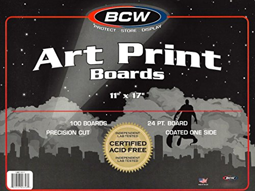 100 Ct. 11x17 Art Print Backing Boards and Bags by BCW