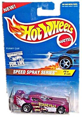 Hot Wheels - Speed Spray Series - #4 of 4 - Funny Car (Magenta) - Collector #552 by Hot Wheels ()