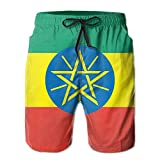 Leisue Africa Ethiopia Flag Quick Dry Lace Boardshort Beach Shorts Pants Swim Trunks Funny Slogans Man Swimsuit With Pockets