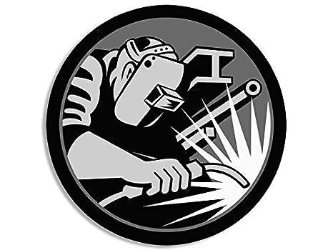 Amazon.com: MAGNET ROUND Hardhat Sized WELDER Logo Magnetic Sticker (welding weld): Automotive