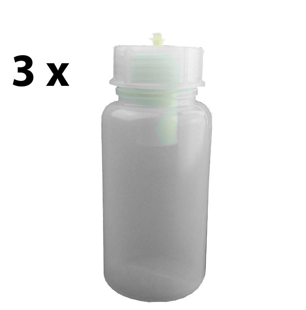 3 x Filterflasche