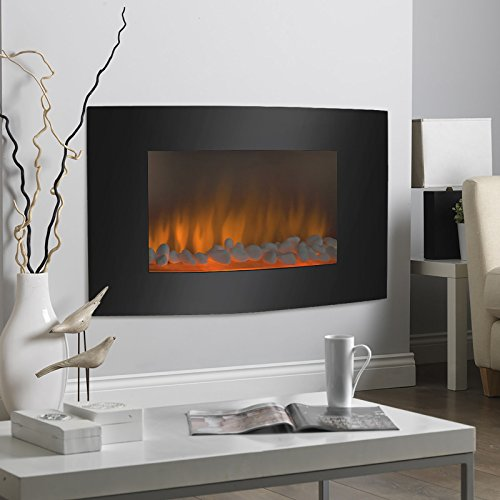 Cheap Large 1500W Heat Adjustable Electric Wall Mount & Free Standing Fireplace Heater Black Friday & Cyber Monday 2019