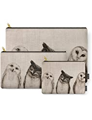Society6 The Owls 3 Carry-All Pouch