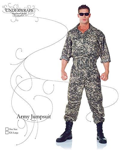 d6a2da3a4ee Amazon.com  Underwraps Men s US Army Jumpsuit - Zippered