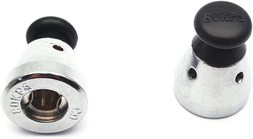 TIHOOD 3PCS Universal Pressure Cooker Relief Jigger Valve 1.5 Inch High Black