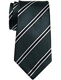 "British Bar Striped Woven Microfiber 3.15"" Men's Tie - Various Colors"