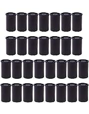 30 Stuks Filmbussen, 33 Mm Kaliber Zwarte Plastic Filmbussen, Opslagcontainers voor Kleine Voorwerpen, voor Wetenschappelijke Activiteiten Kleine Opslag en Geocaching Kleine Accessoires