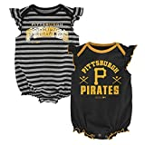 MLB  Pittsburgh Pirates Infant Girls 2Pk Creeper-24 Months