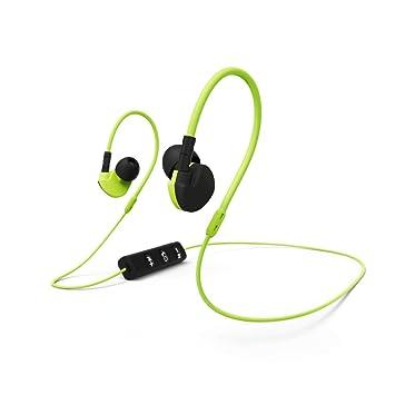 Hama Active BT - Auriculares (Inalámbrico, Dentro de oído, Binaural, Circumaural, 96 dB, Negro, Amarillo): Amazon.es: Electrónica