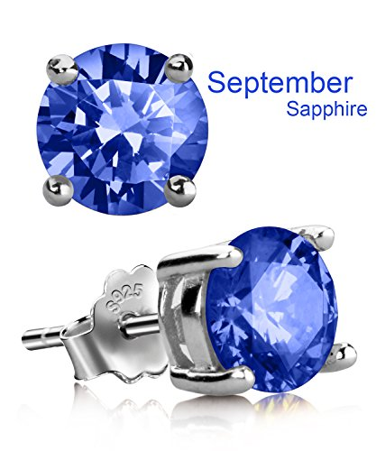 Blue Cubic Zirconia Earrings - 6