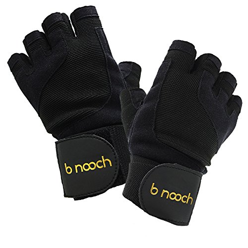 Worth Lifting Gloves For Gym Workouts, Crossfit (WOD) & Fitness with Wrist Wrap Support for Men & Women by B Nooch (Black) ● Norm ●
