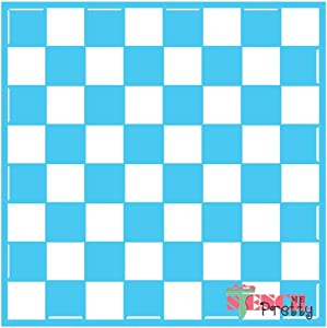 "Chess/Checkers Board Stencil Best Vinyl Large Stencils for Painting on Wood, Canvas, Wall, etc.-XL (16"" x 16"")