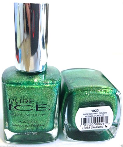 Pure Ice Nail Polish, #1023 Lucky Charming - Limited Edition St Patrick's Day - Green Duo Chrome - .5 Fl Oz ()