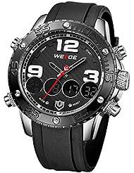 PLSHOP HAIBO Stainless Steel Quartz Round Dial Analog Men's Wrist Watch Black