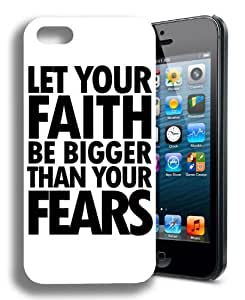 EVERMARKET(TM) Faith Religious Christian Cute Inspirational Quote Black Hard Case Cover for Apple iPhone 5 5S by Maris's Diary