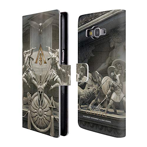 Official Assassin's Creed Sculpture Odyssey Key Art Leather Book Wallet Case Cover for Samsung Galaxy Grand Prime ()