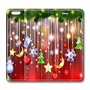 Christmas Trees Design Leather Iphone 6 Case Bell