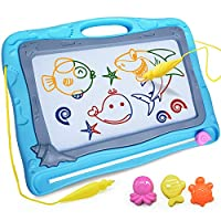 WITALENT Magnetic Drawing Board Toddler Toys for Kids Large Magna Doodle Board Colorful Erasable Sketching Drawing Pad Educational Learning Toys Holiday Birthday Gifts for Kids Girls Boys