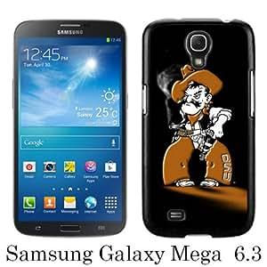 Samsung Galaxy Mega 6.3 I9205 Case ,Fashion And Unique Designed Samsung Galaxy Mega 6.3 I9205 Case With NCAA Big 12 Conference Big12 Football Oklahoma State Cowboys 16 Black Hight Quality Cover