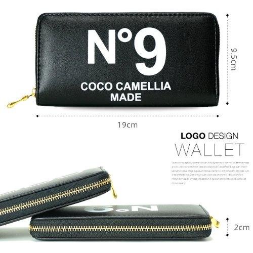 b15dd69d611c Amazon | 長財布 レディース 人気 ブランド COCO camellia ココカメリア COCOロゴ No9 (NO9ブラックピンク) | 財布