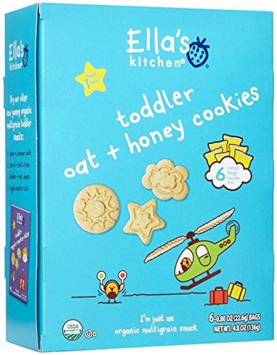 Ella's Kitchen Organic Toddler Cookies - Oat   Honey - 6 ct
