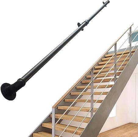 Redondo Pasamanos para escaleras de Hierro Forjado para Soporte de Paredes Conjuntos | Barandilla Escalera Interior Exterior | Balaustrada Tubería de Agua Industrial: Amazon.es: Hogar