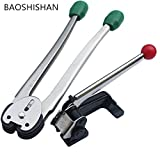 BAOSHISHAN 12-16mm Manual Steel Strapping Machine Manual Sealless Combination Tool Steel Belt Packing Machine for Steel Straps Banding